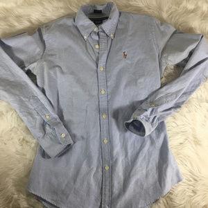 Ralph Lauren Blue Button Down Size 2